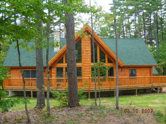 Photo gallery client homes for New log homes