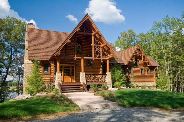 Photo gallery exteriors Log homes in new hampshire